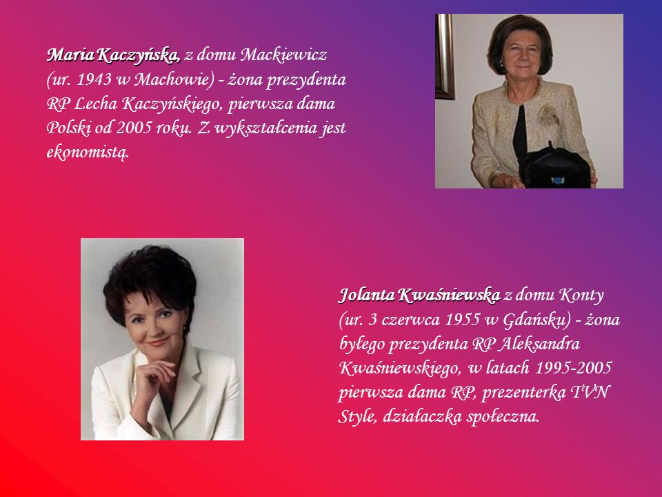 Maria Kaczyńska, z domu Mackiewicz (ur