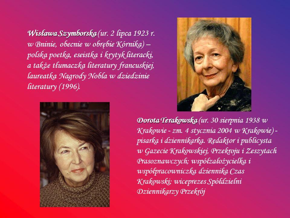 Wisława Szymborska (ur. 2 lipca 1923 r