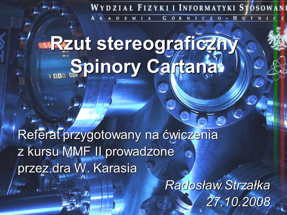 Rzut stereograficzny Spinory Cartana
