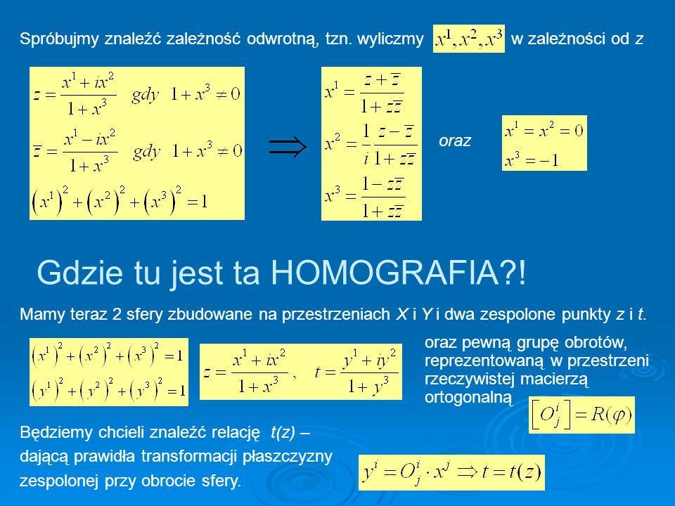 Gdzie tu jest ta HOMOGRAFIA !