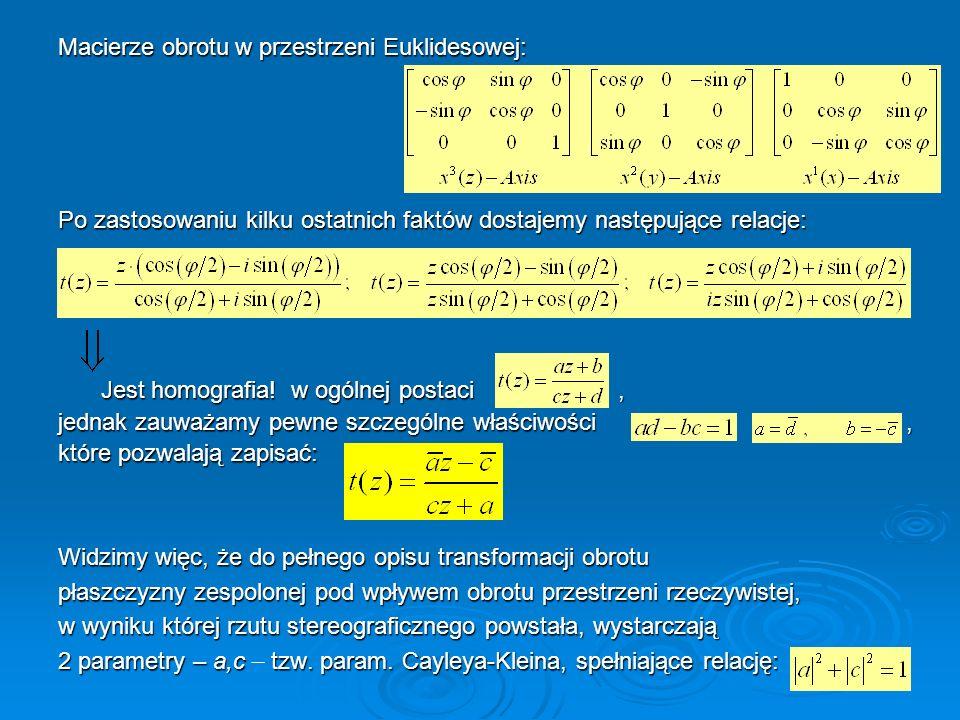 Macierze obrotu w przestrzeni Euklidesowej: