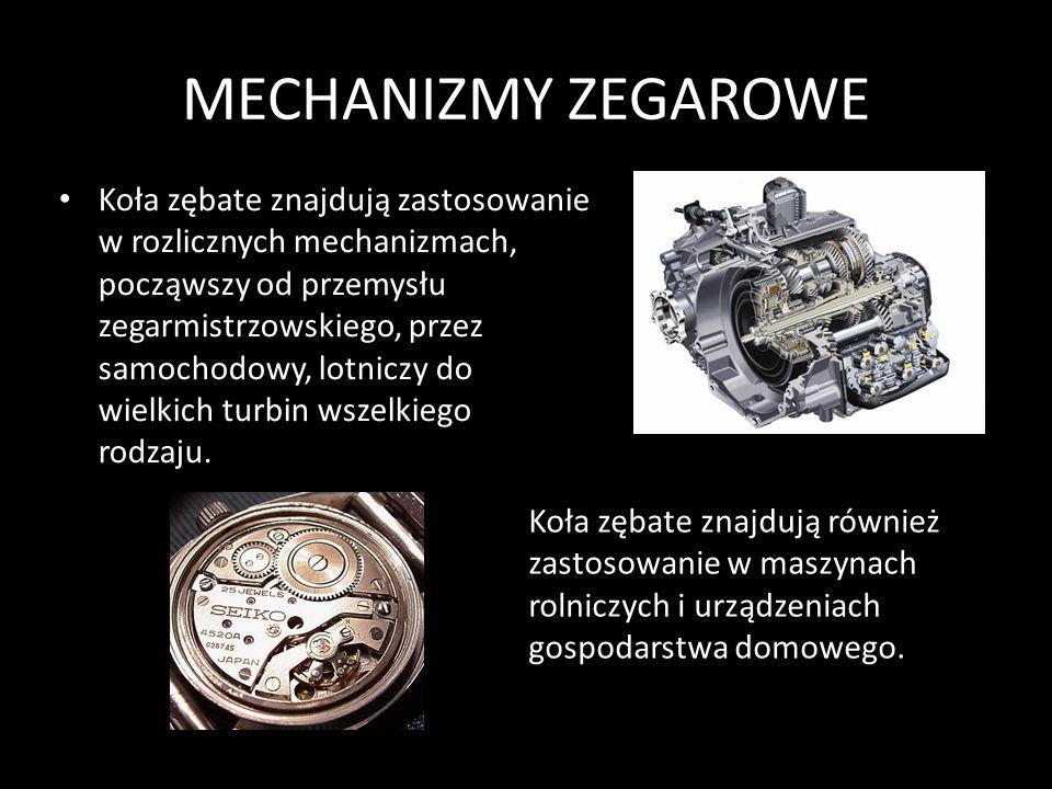 MECHANIZMY ZEGAROWE