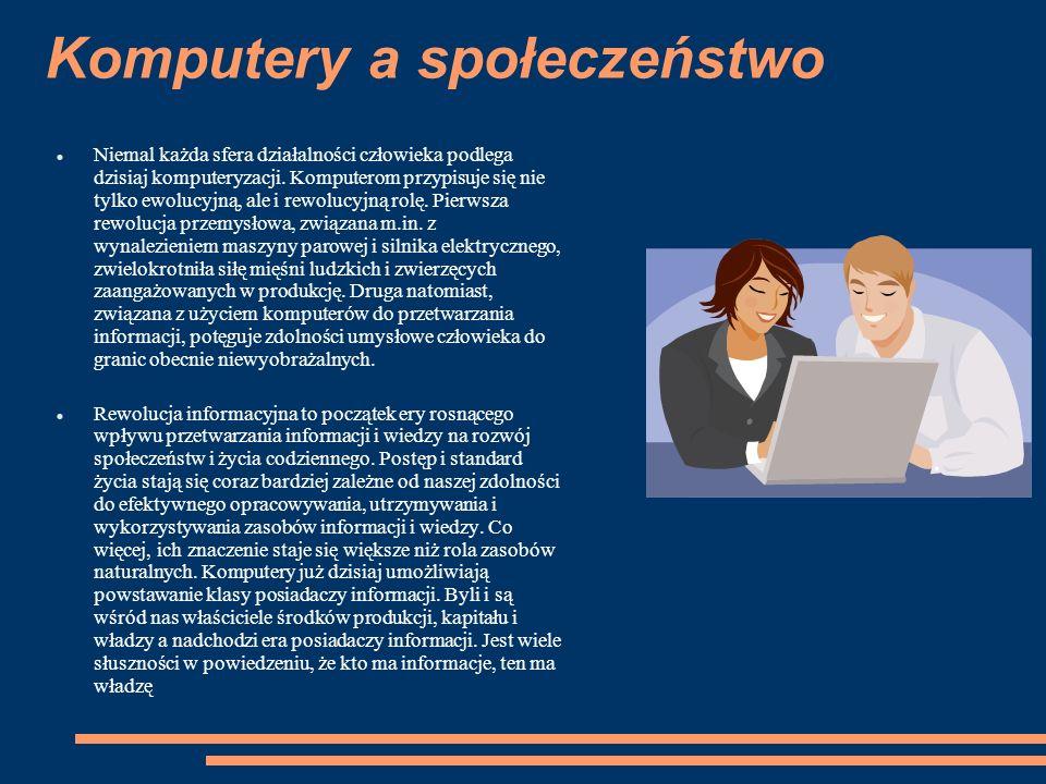 Komputery a społeczeństwo