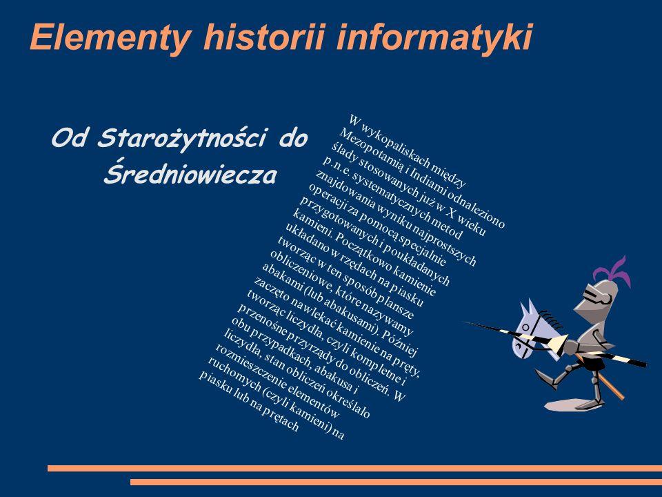 Elementy historii informatyki