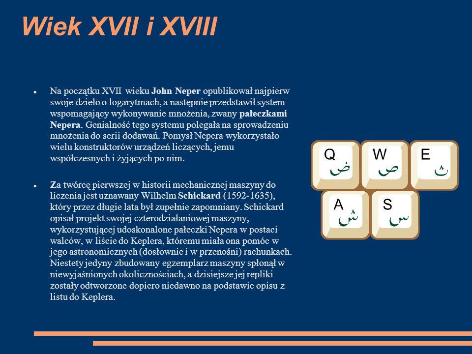 Wiek XVII i XVIII
