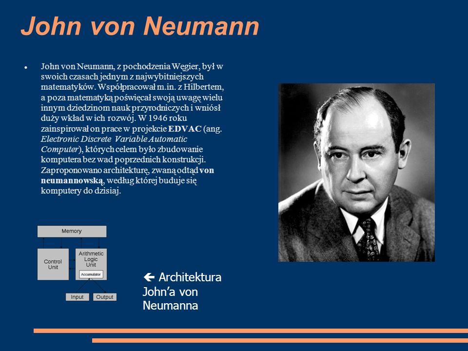 John von Neumann  Architektura John'a von Neumanna