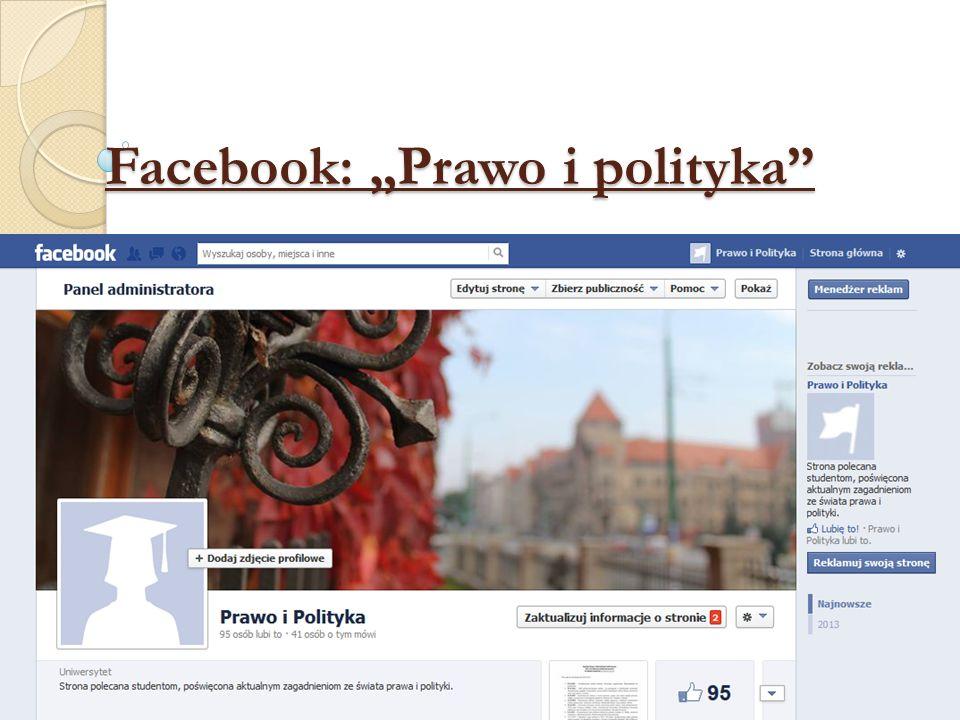 "Facebook: ""Prawo i polityka"