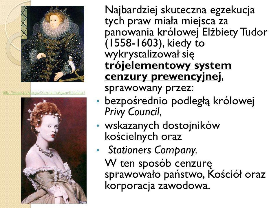 bezpośrednio podległą królowej Privy Council,