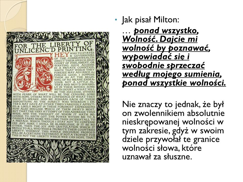 Jak pisał Milton: