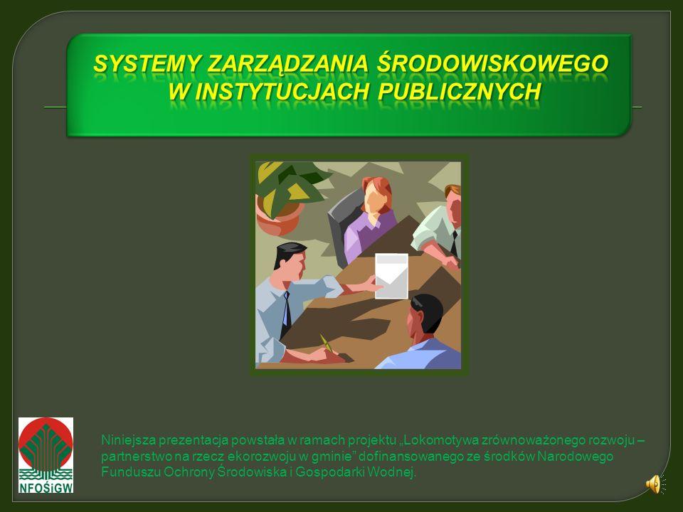 Systemy zarządzania środowiskowego w instytucjach publicznych