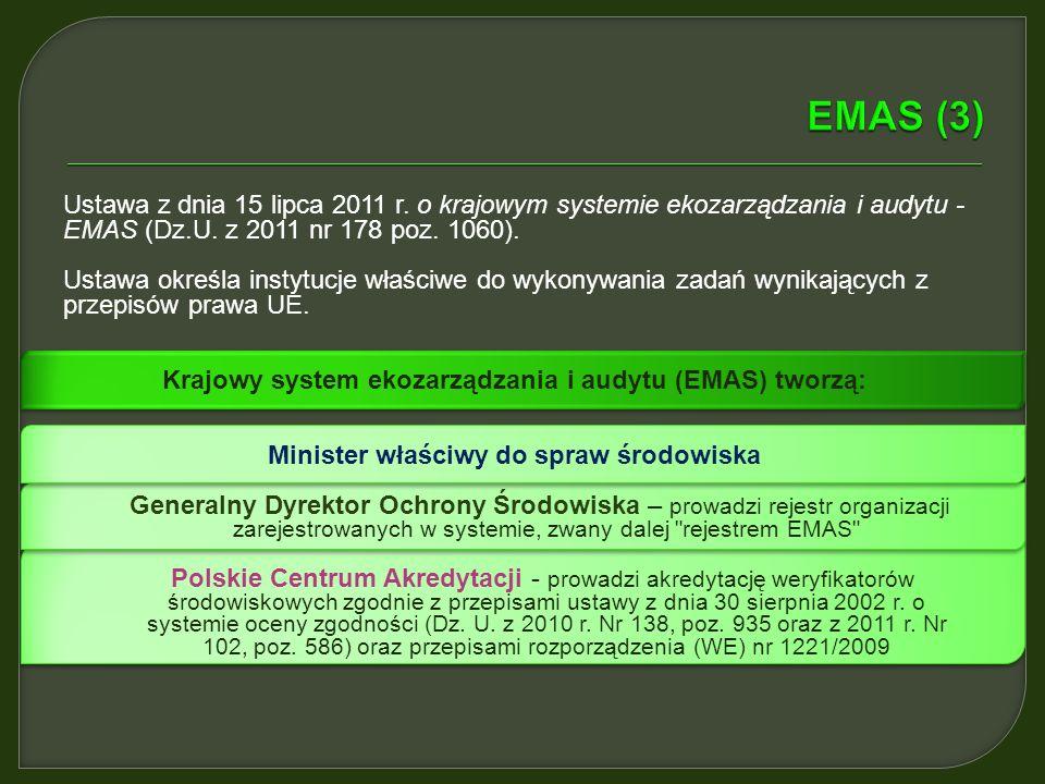 Krajowy system ekozarządzania i audytu (EMAS) tworzą: