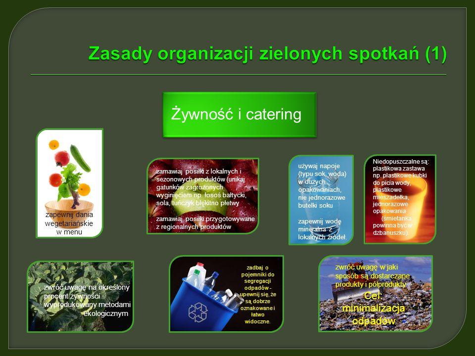 Zasady organizacji zielonych spotkań (1)