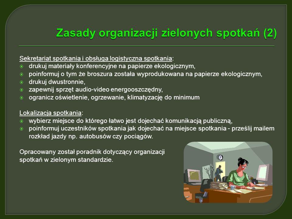 Zasady organizacji zielonych spotkań (2)