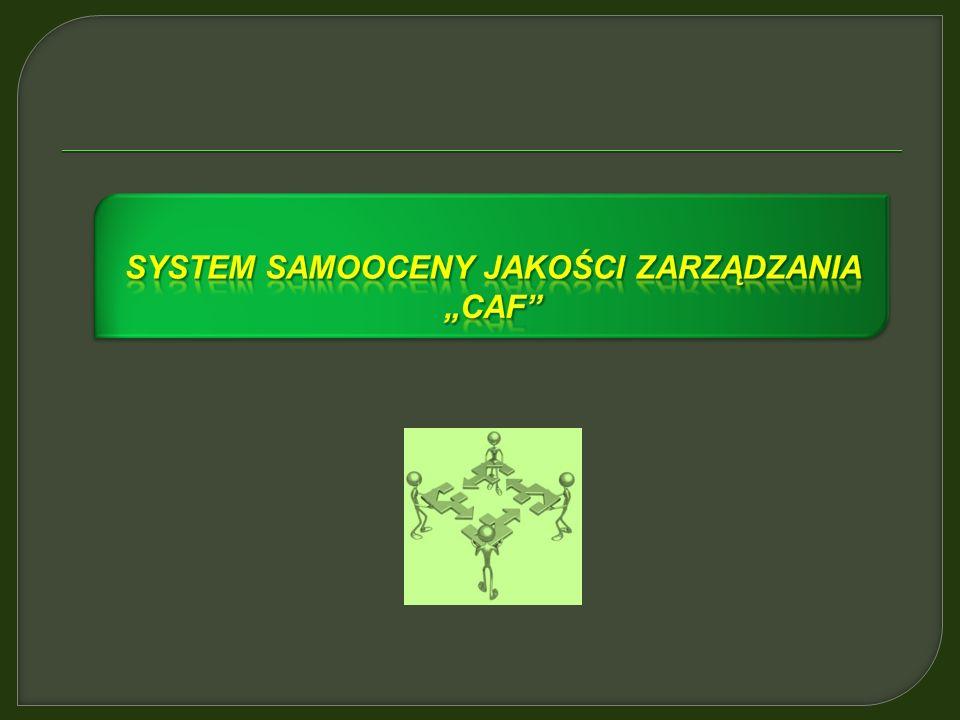 """System samooceny jakości zarządzania """"caf"""