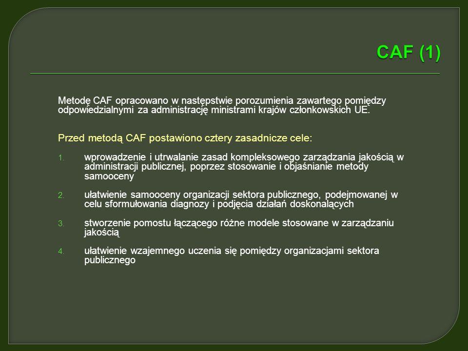 CAF (1) Przed metodą CAF postawiono cztery zasadnicze cele: