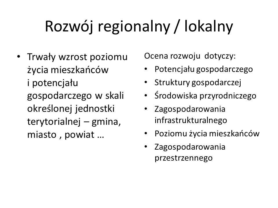Rozwój regionalny / lokalny