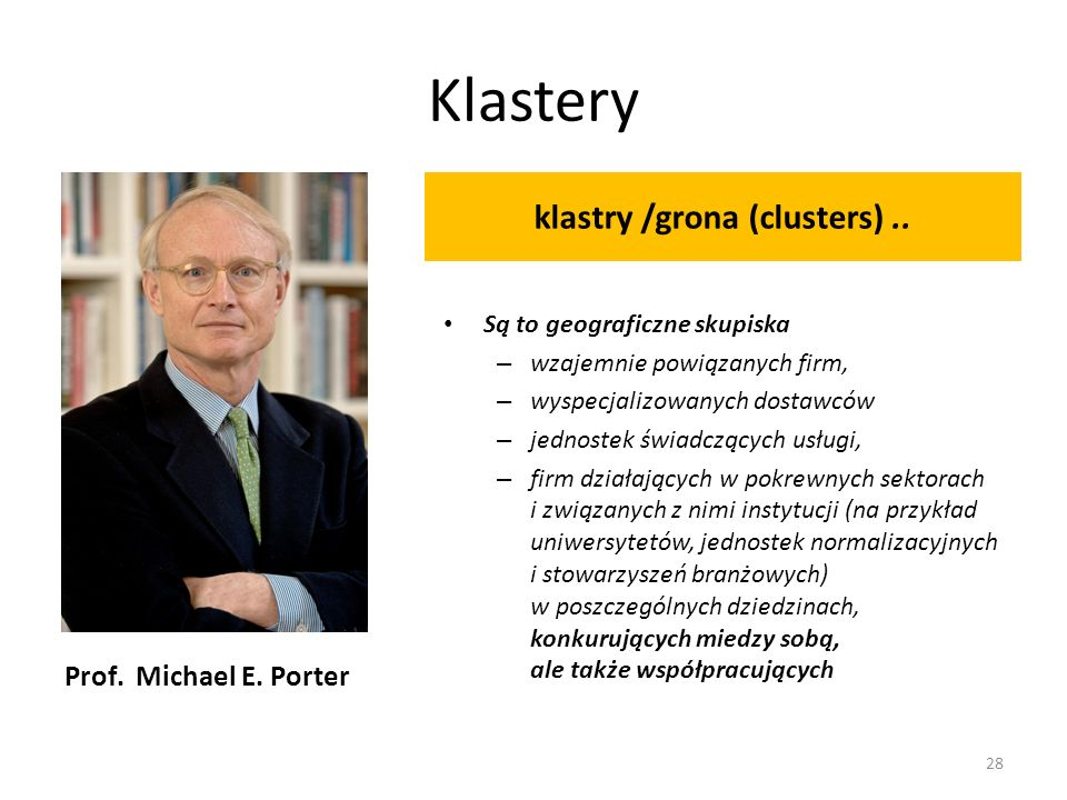 klastry /grona (clusters) ..