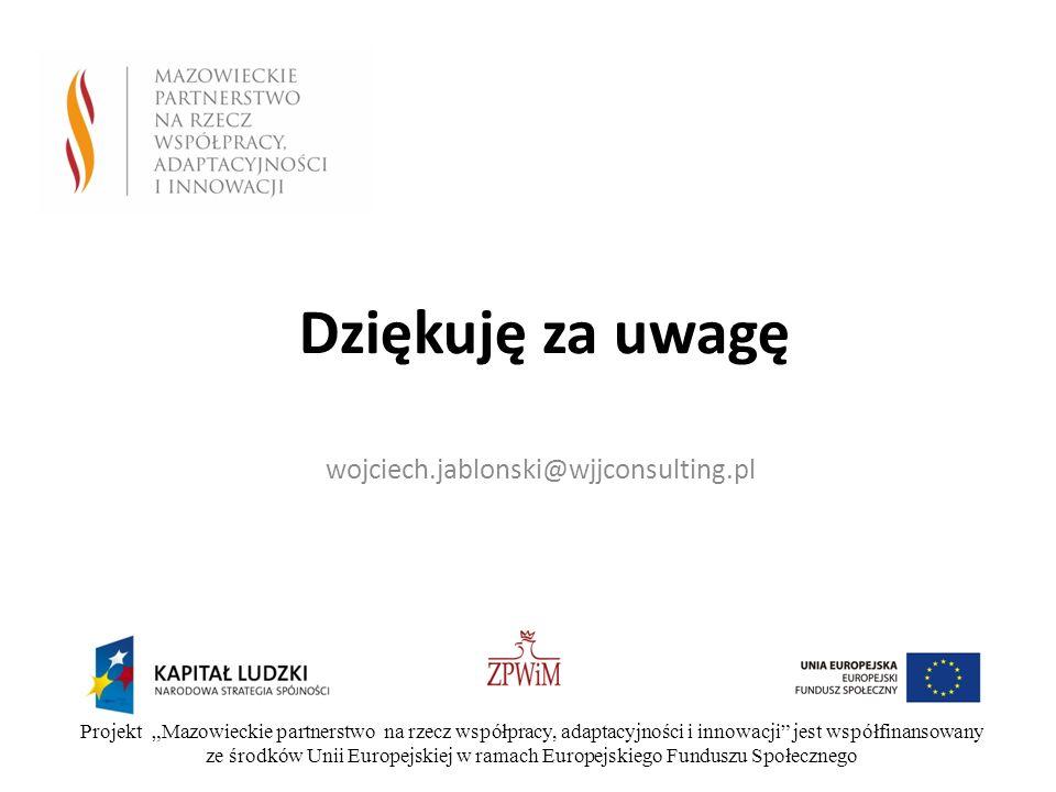 Dziękuję za uwagę wojciech.jablonski@wjjconsulting.pl