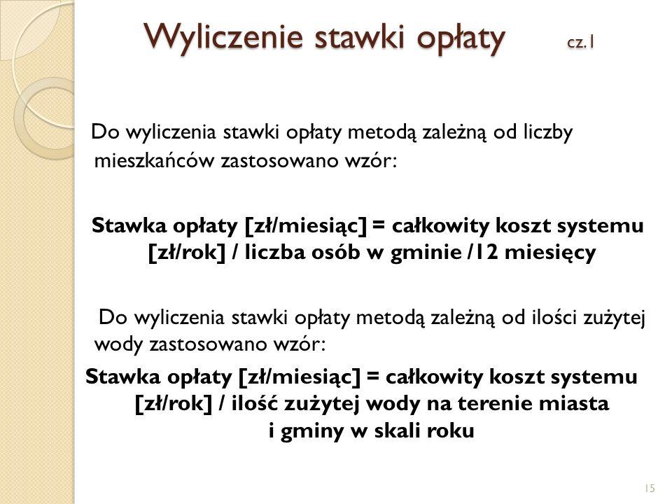 Wyliczenie stawki opłaty cz.1