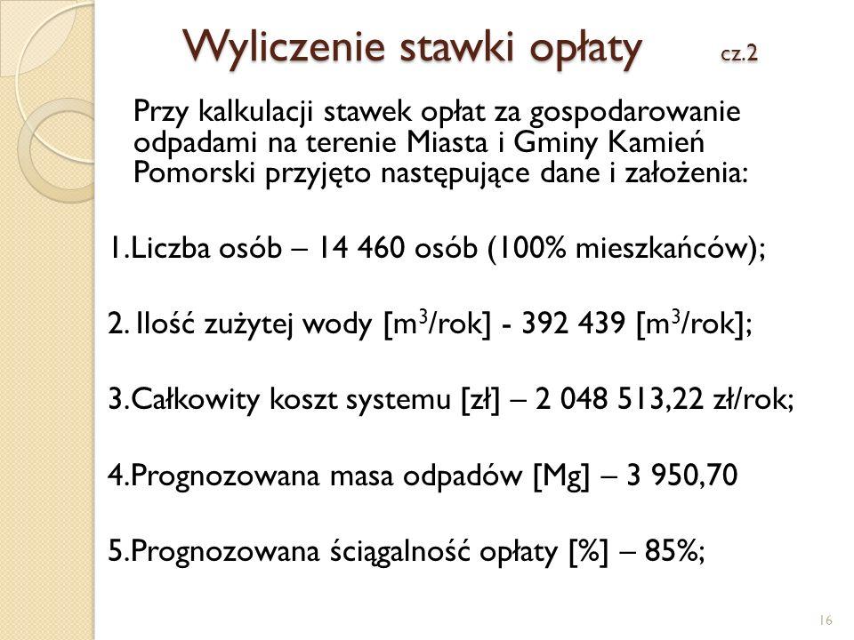 Wyliczenie stawki opłaty cz.2