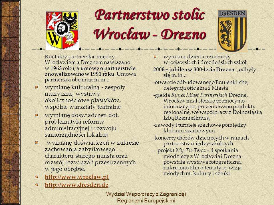 Partnerstwo stolic Wrocław - Drezno