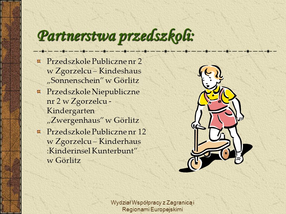 Partnerstwa przedszkoli: