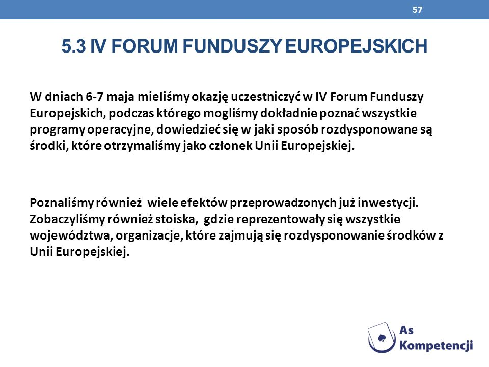 5.3 IV Forum funduszy Europejskich