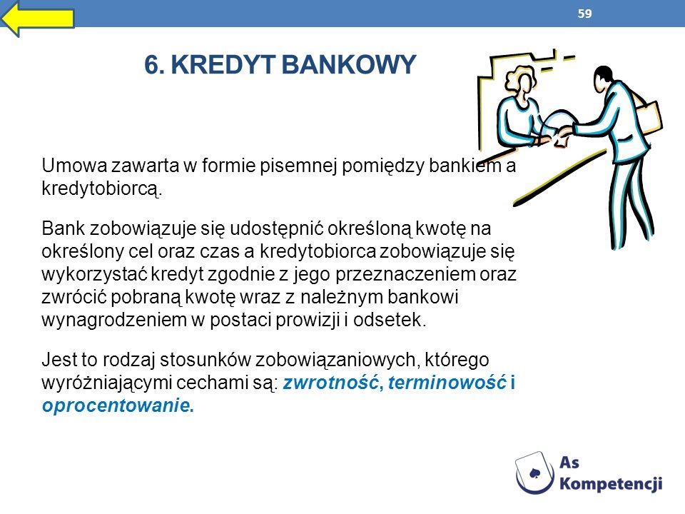 6. kredyt bankowy
