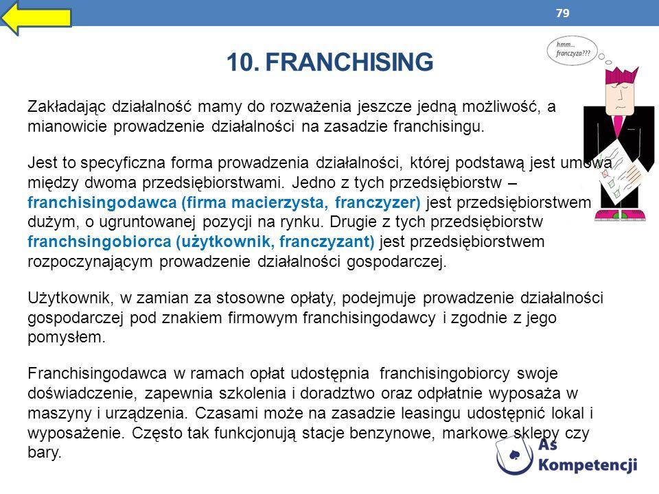 10. franchising