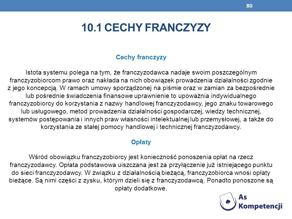 10.1 cechy franczyzy