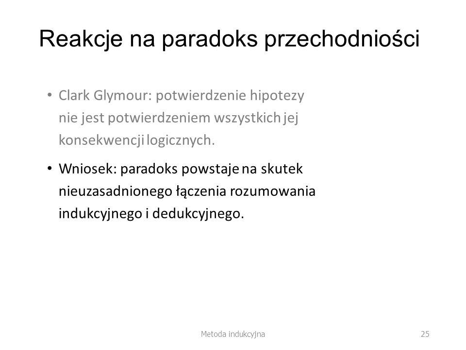 Reakcje na paradoks przechodniości