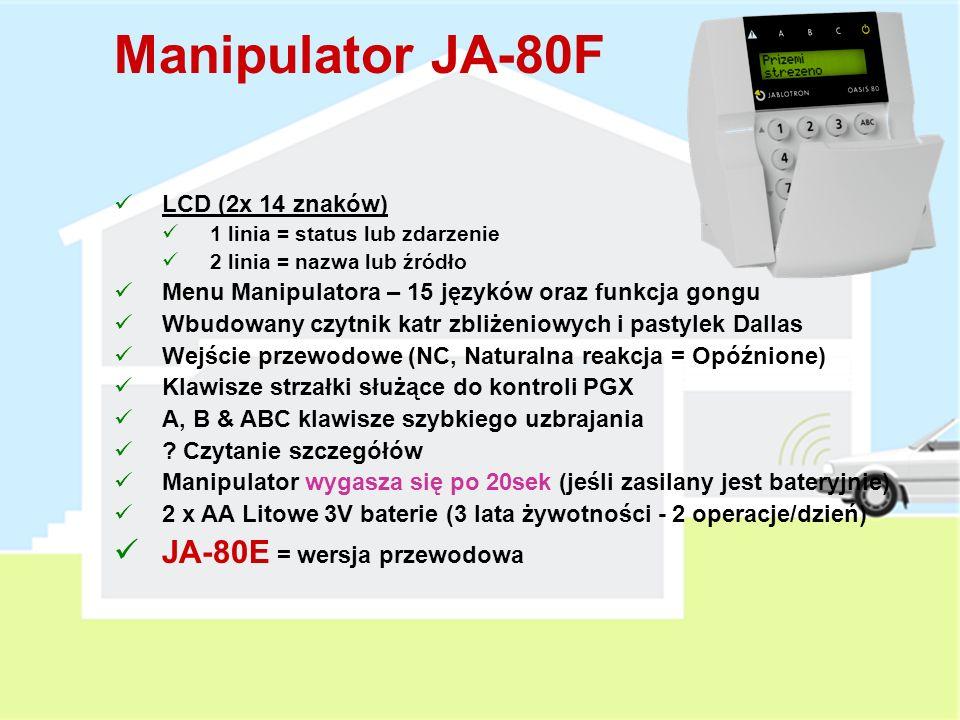 Manipulator JA-80F JA-80E = wersja przewodowa LCD (2x 14 znaków)
