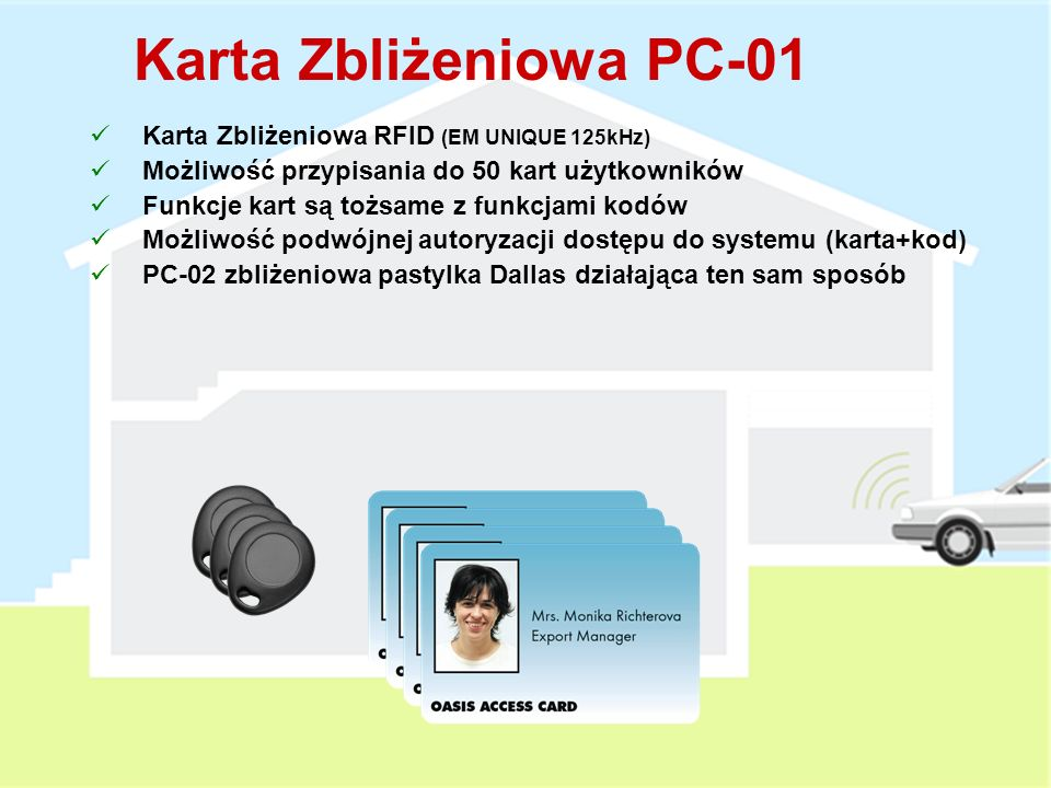 Karta Zbliżeniowa PC-01 Karta Zbliżeniowa RFID (EM UNIQUE 125kHz)