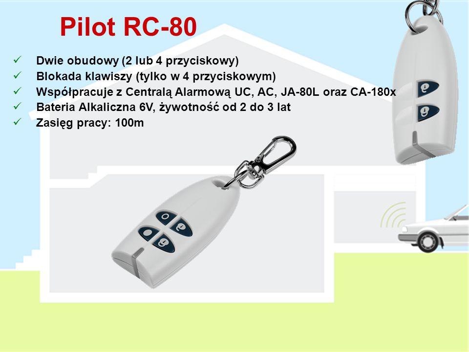 Pilot RC-80 Dwie obudowy (2 lub 4 przyciskowy)