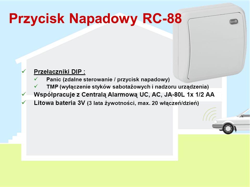 Przycisk Napadowy RC-88 Przełączniki DIP :