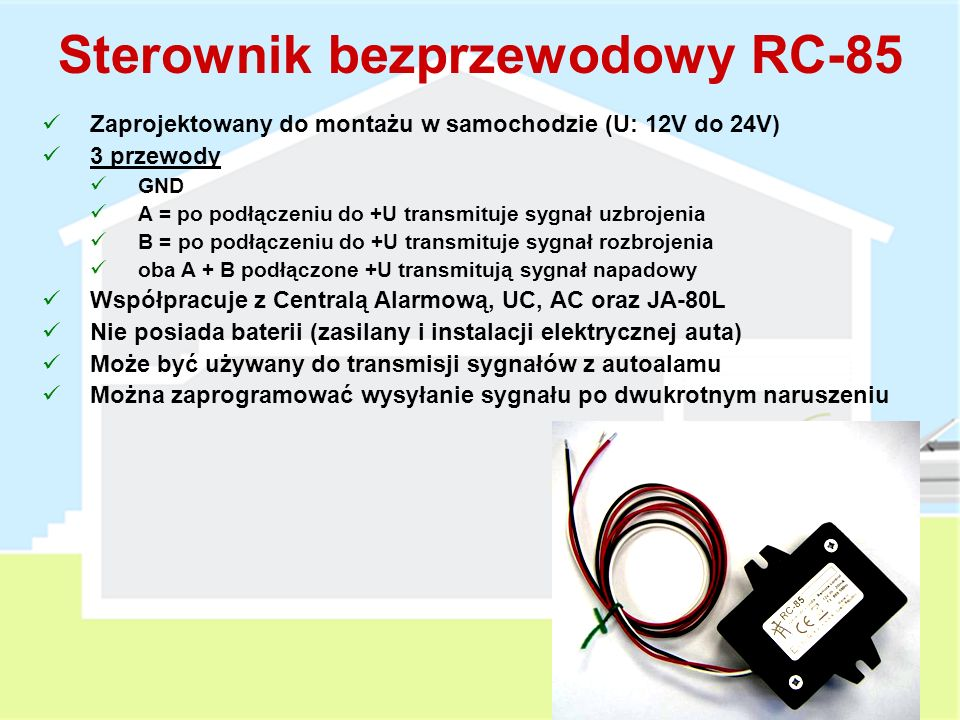 Sterownik bezprzewodowy RC-85
