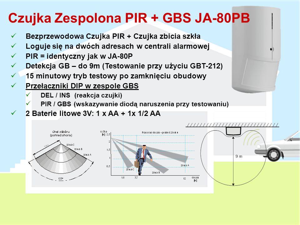 Czujka Zespolona PIR + GBS JA-80PB