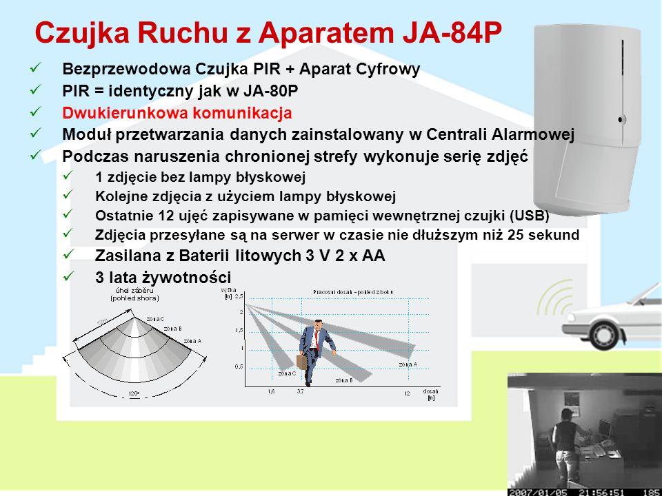 Czujka Ruchu z Aparatem JA-84P