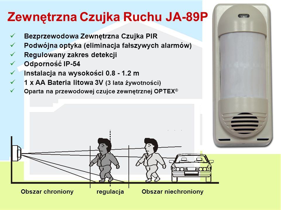Zewnętrzna Czujka Ruchu JA-89P