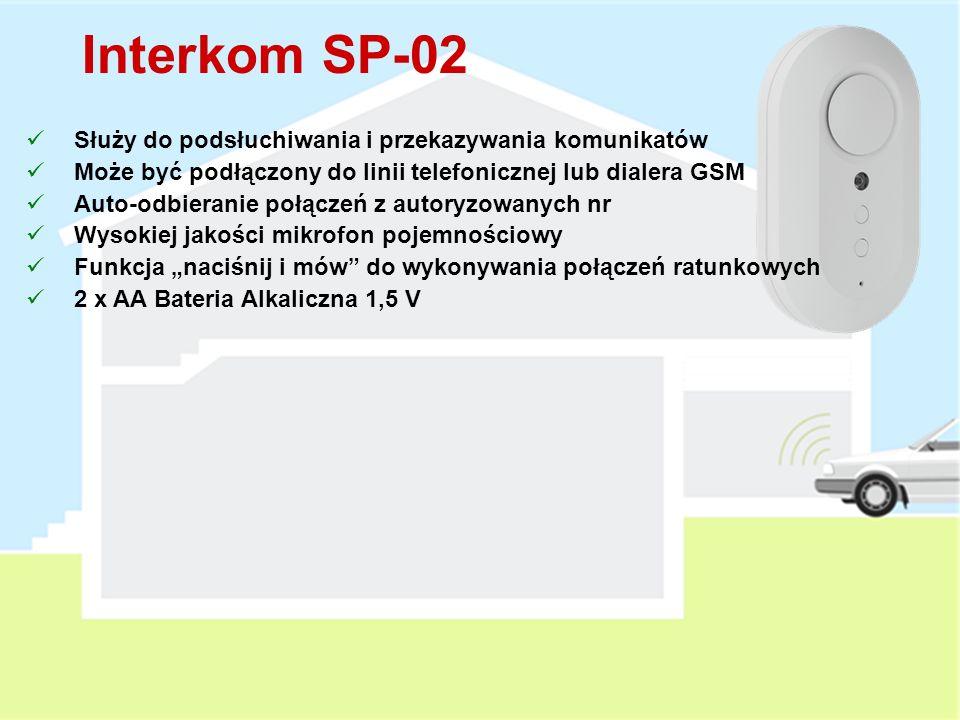 Interkom SP-02 Służy do podsłuchiwania i przekazywania komunikatów