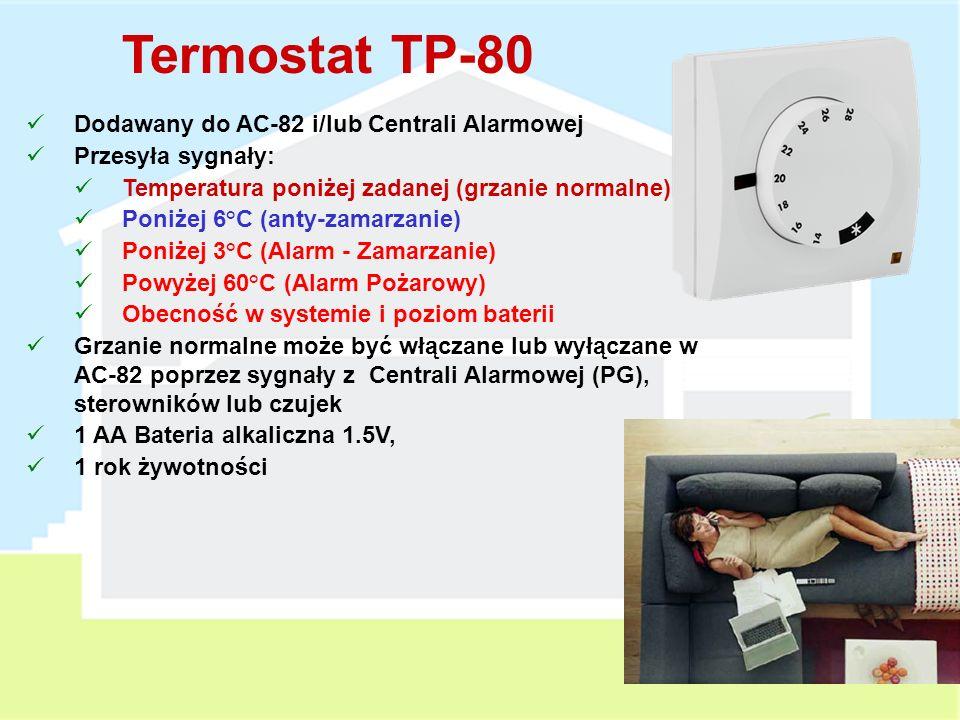 Termostat TP-80 Dodawany do AC-82 i/lub Centrali Alarmowej
