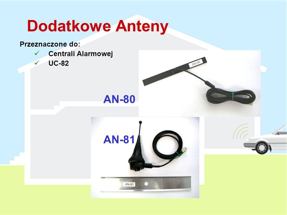 Dodatkowe Anteny Przeznaczone do: Centrali Alarmowej UC-82 AN-80 AN-81