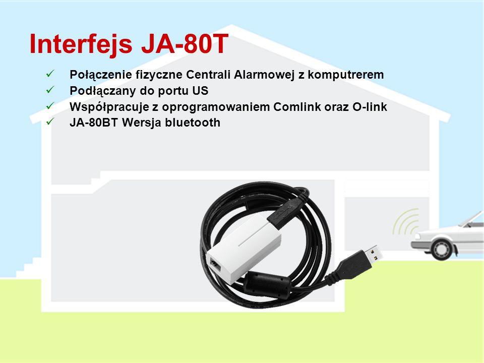 Interfejs JA-80T Połączenie fizyczne Centrali Alarmowej z komputrerem