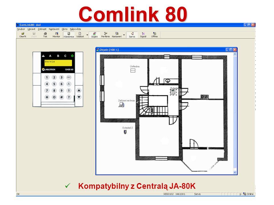 Comlink 80 Kompatybilny z Centralą JA-80K