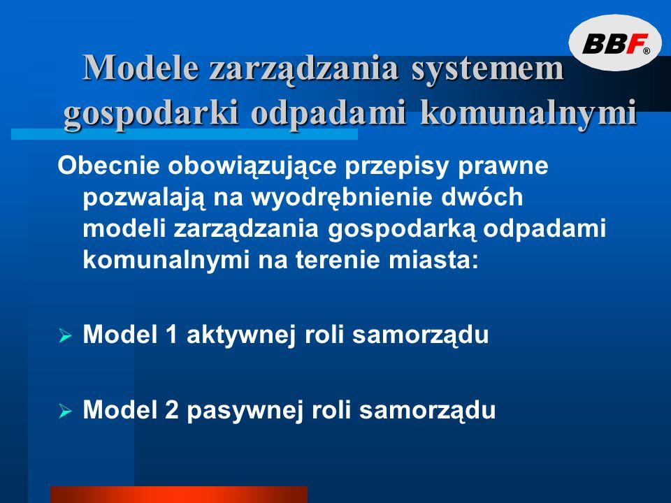 Modele zarządzania systemem gospodarki odpadami komunalnymi