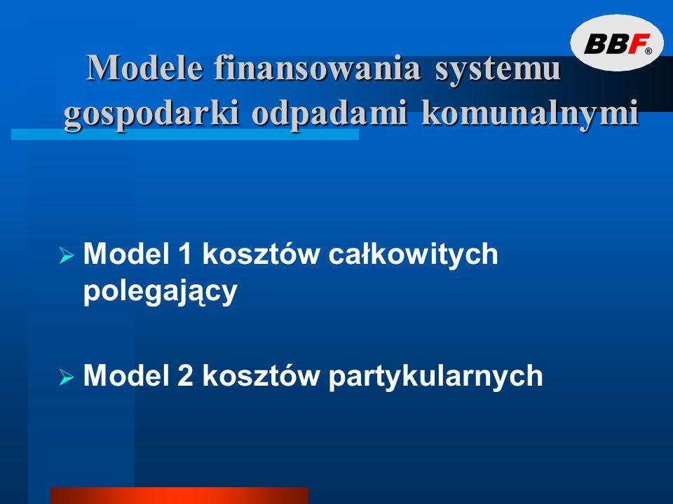 Modele finansowania systemu gospodarki odpadami komunalnymi