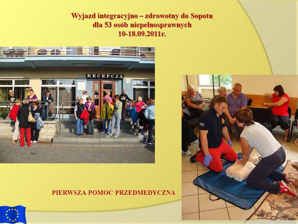 Wyjazd integracyjno – zdrowotny do Sopotu dla 53 osób niepełnosprawnych