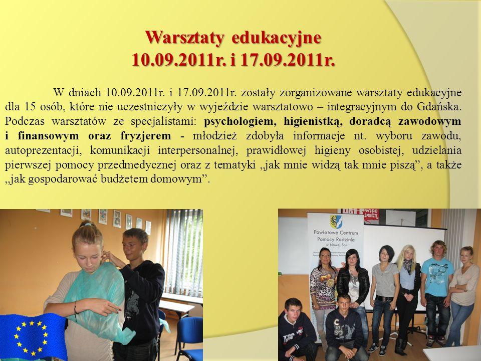 Warsztaty edukacyjne 10.09.2011r. i 17.09.2011r.