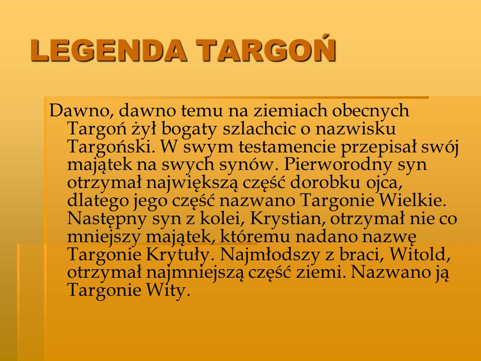 LEGENDA TARGOŃ