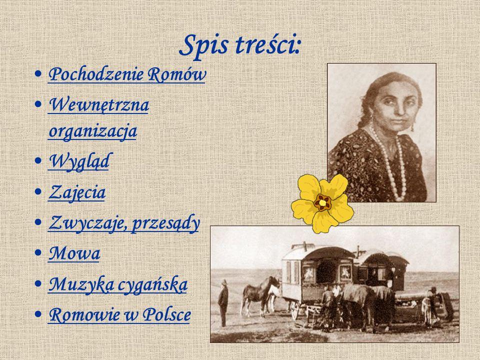 Spis treści: Pochodzenie Romów Wewnętrzna organizacja Wygląd Zajęcia